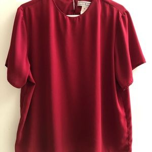 Dress barn red blouse extra large